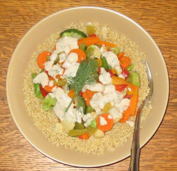simple plant-based diet recipes. Mediterranean quinoa