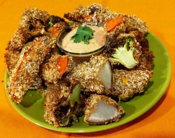 vegan air fryer tempura