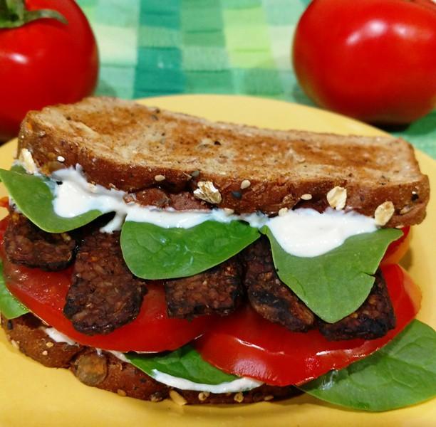 Smoked Tempeh TTLA Sandwich