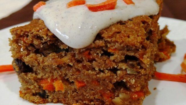 Glazed Vegan Carrot Cake