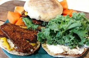 Smoked Tempeh Breakfast Sandwich