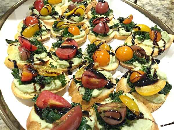 vegan party snack kale bruschetta