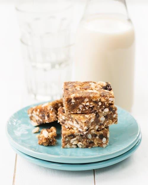 vegan party snacks chocolate fruit squares