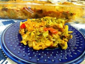 Broccoli & Rice Vegan Casserole