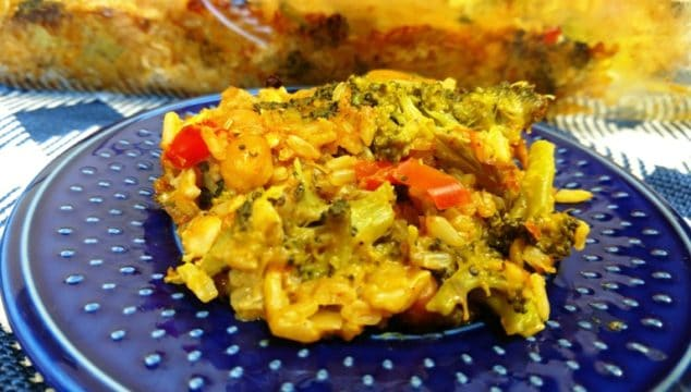 Vegan Broccoli & Rice Casserole
