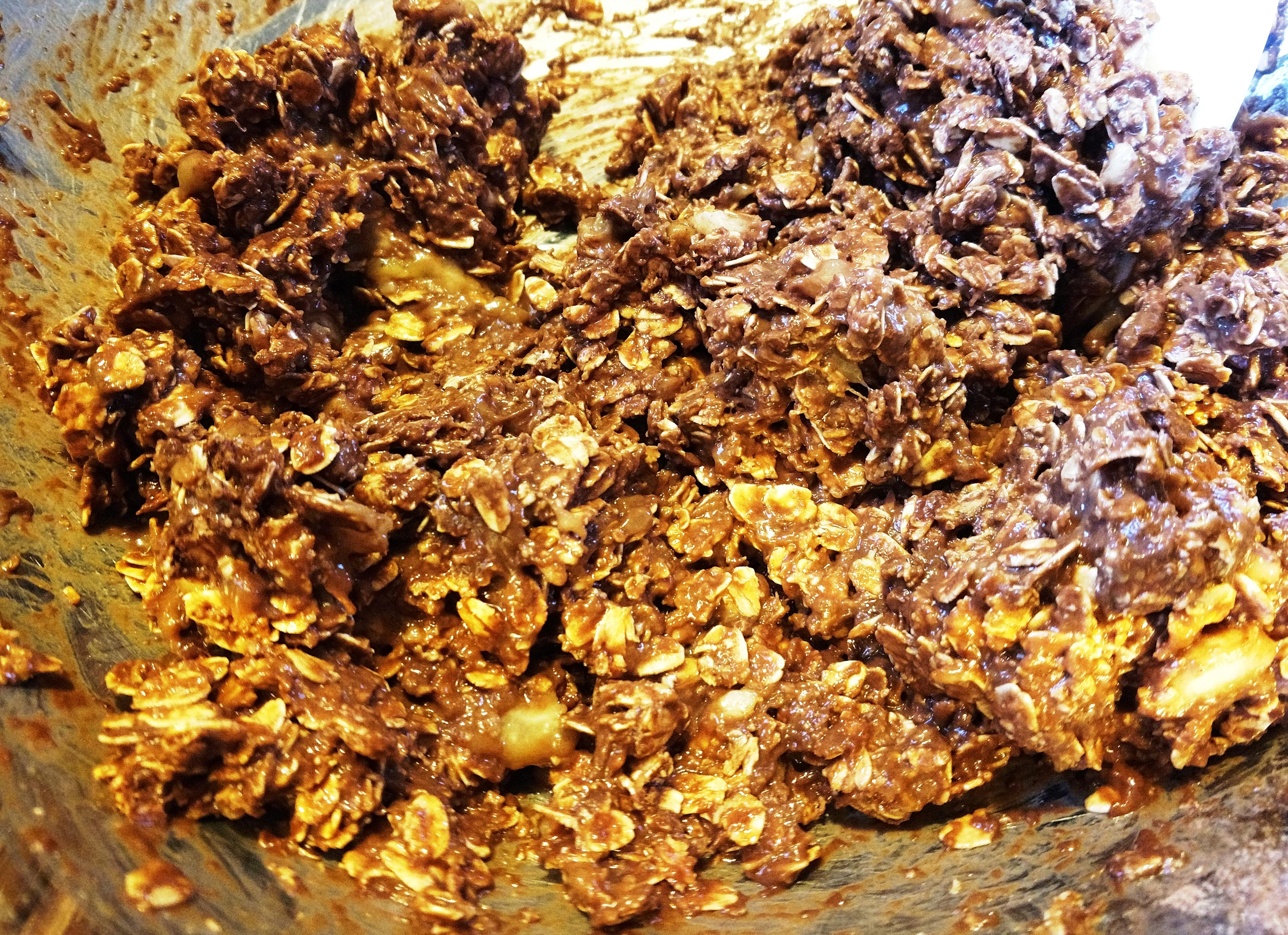 vegan chocolate oatmeal cookies batter