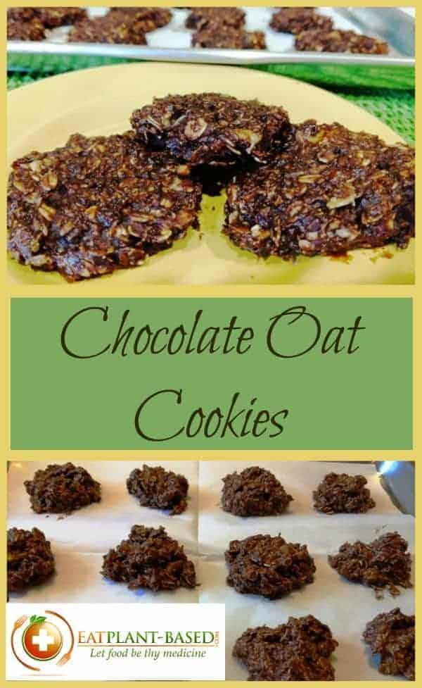vegan chocolate oatmeal cookies