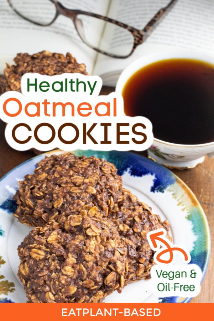 chocolate oatmeal cookies photo collage for pinterest