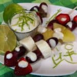 Key Lime Sauce with Fruit Skewers