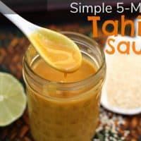 Simple 5-Ingredient Tahini Sauce Recipe