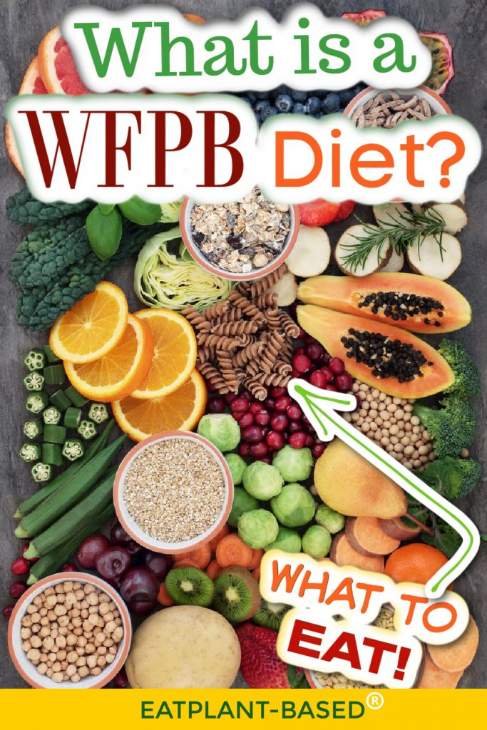 photo collage for wfpb diet with foods