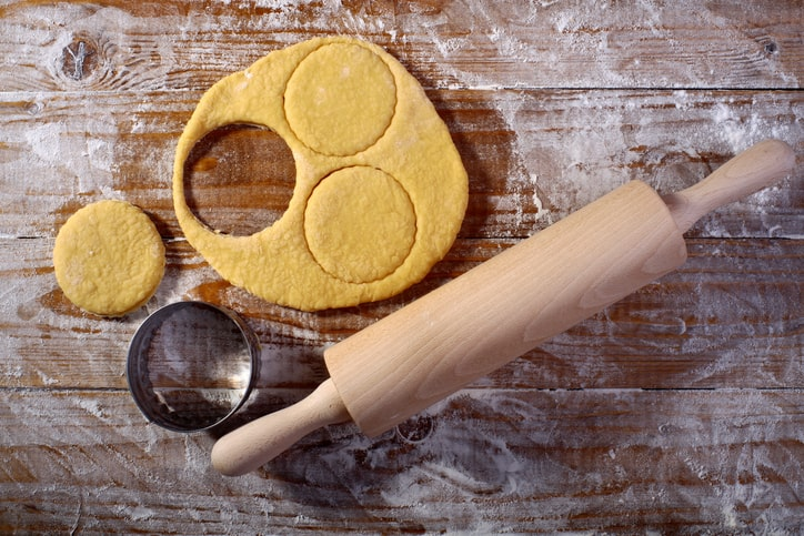 Dairy Free Baking. healthy baking tips. rolling pin on cutting board