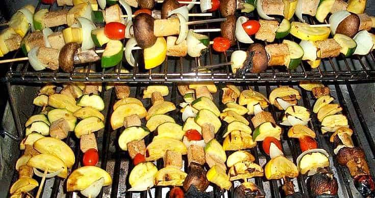 vegan grill recipe veggie kabobs