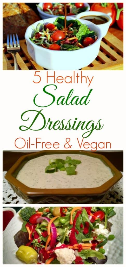 Healthy Vegan Oil-Free Salad Dressings