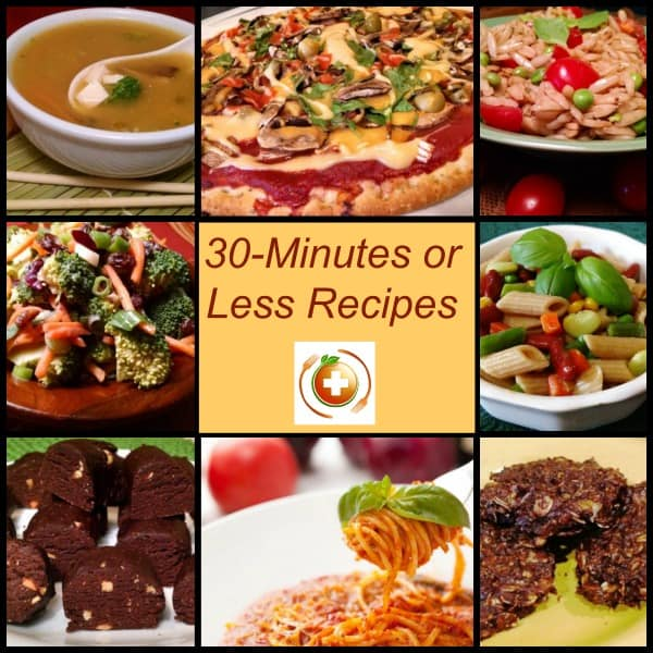 30 Minutes or Less Recipes. with 8 recipes pictured