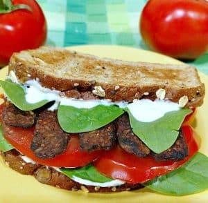 Smoked Tempeh TLT Sandwich