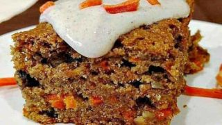 Glazed Vegan Carrot Cake