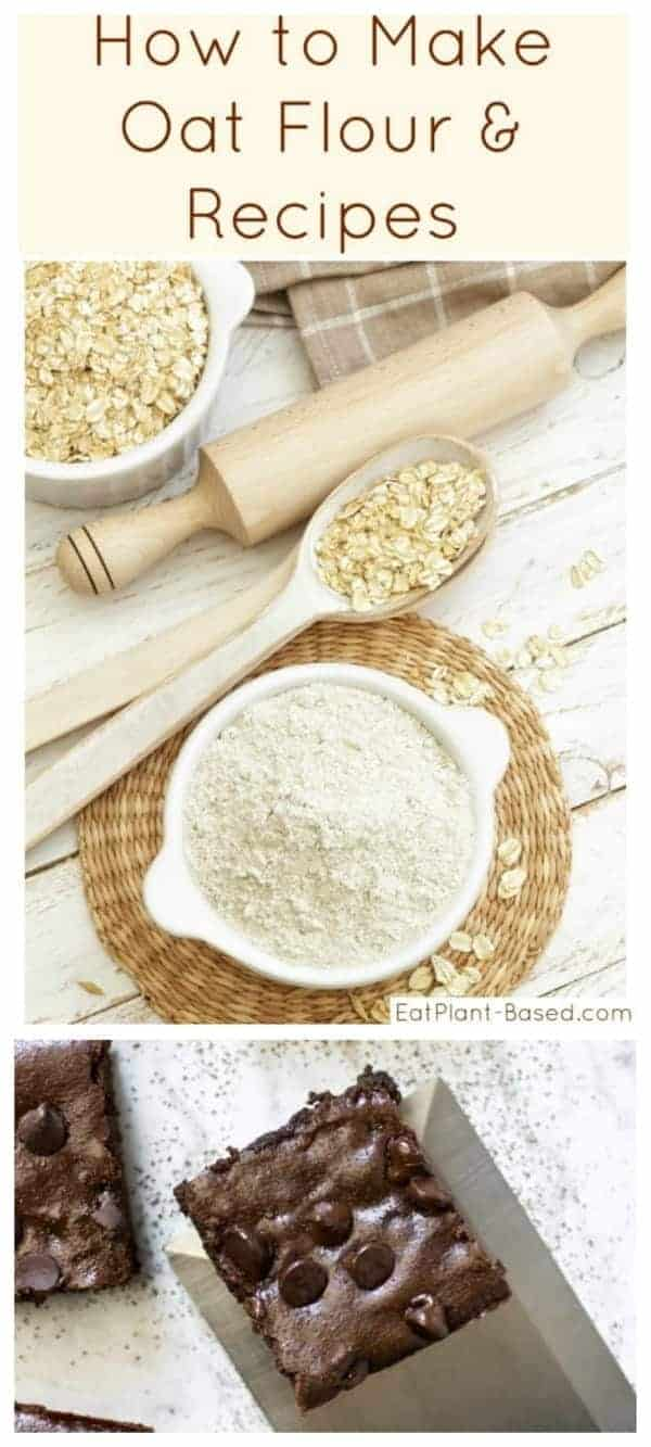 How to make oat flour rolling pin and oats