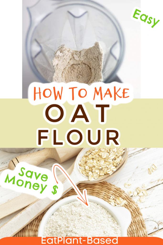 oat flour photo collage for pinterest