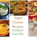 Vegan cheese recipes collage