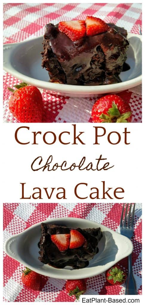 crockpot lava cake collage for pinterest
