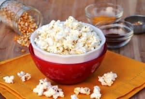 Healthy Popcorn in bowls