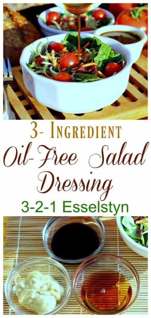 3 ingredient oil free dressing