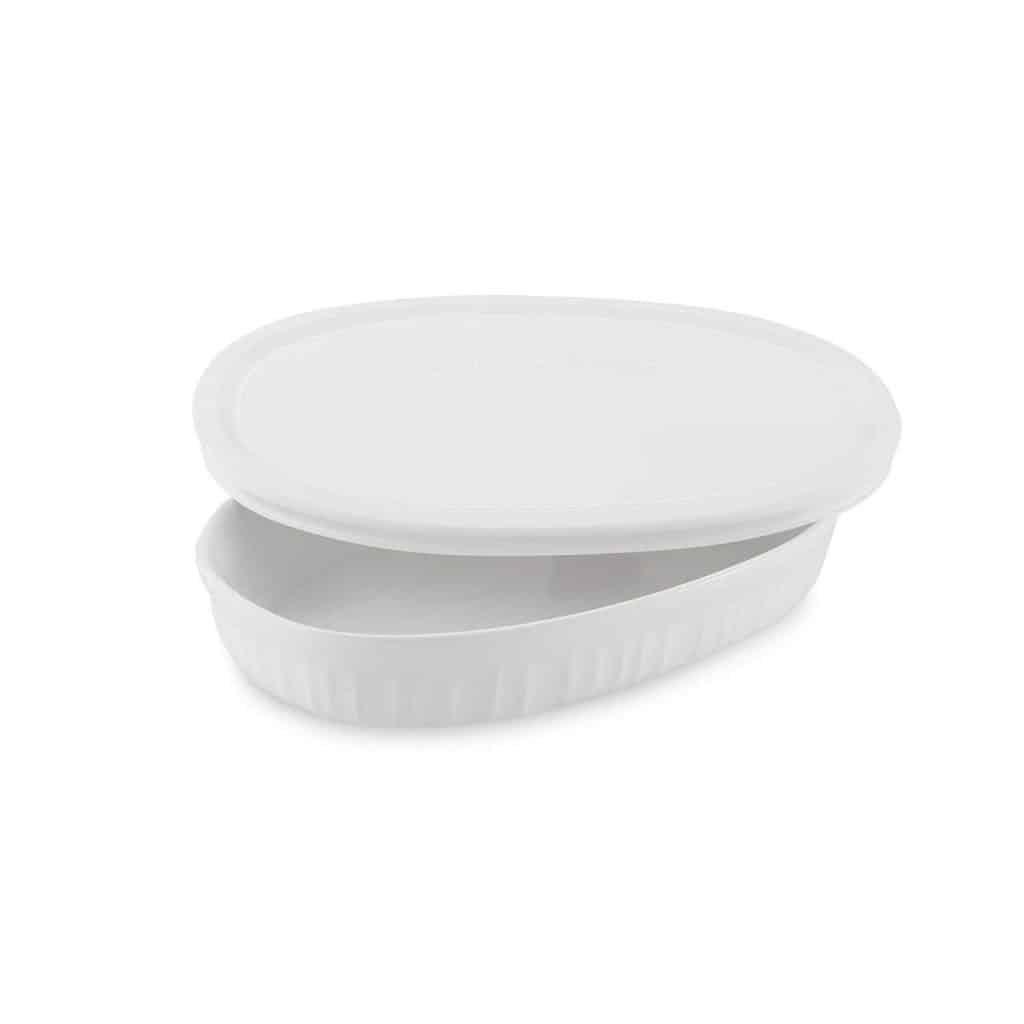 white baking dish