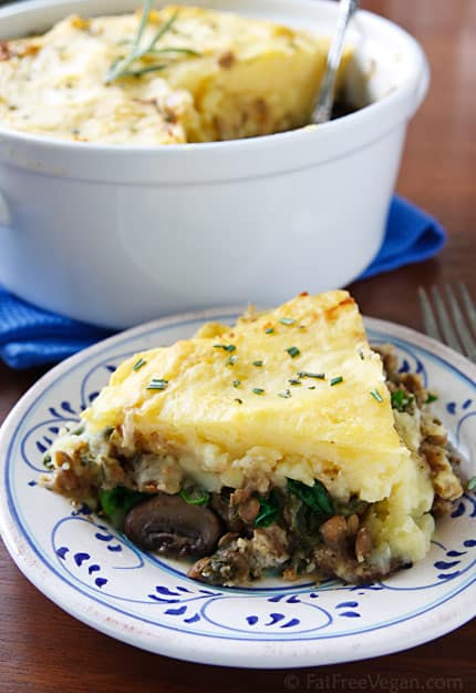 Lentil & Mushroom Shepherd Pie