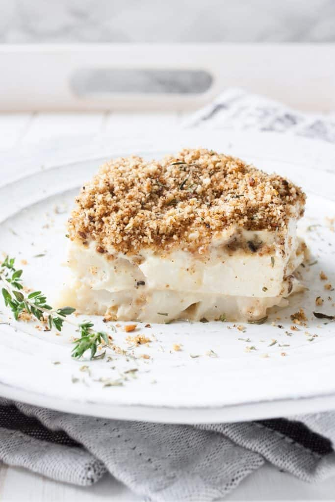 Vegan Scalloped Cauliflower