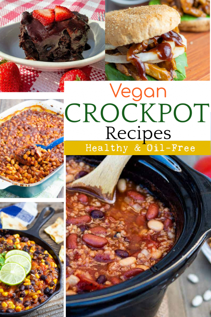 photo collage of recipes made in crockpot