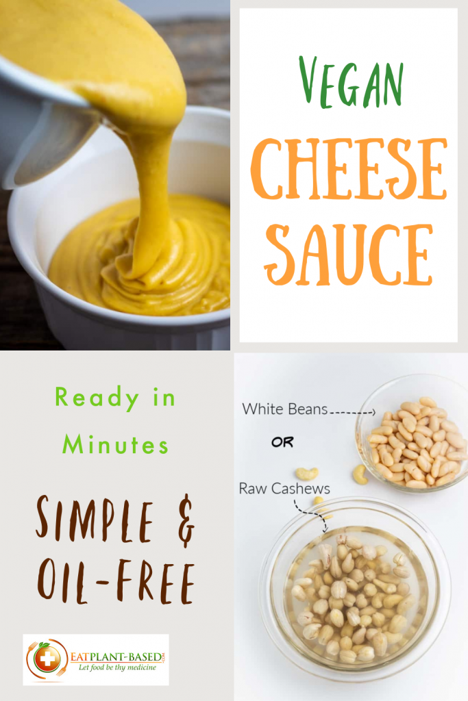 vegan cheese sauce photo collage for pinterest