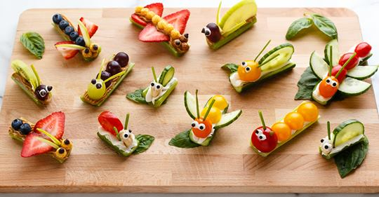 fruit and veggie bug snacks for kids