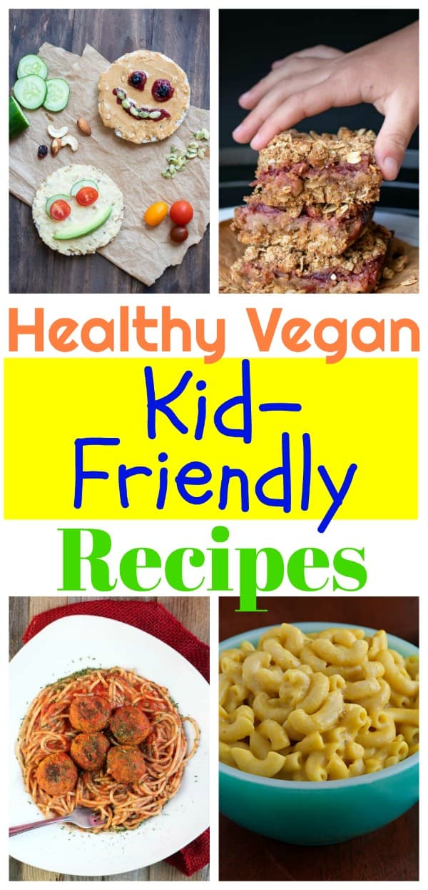 vegan kid snacks photo collage for pinterest