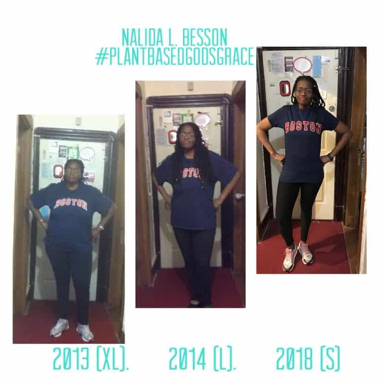 Nalida Besson's weight loss from July 2013 to 2018