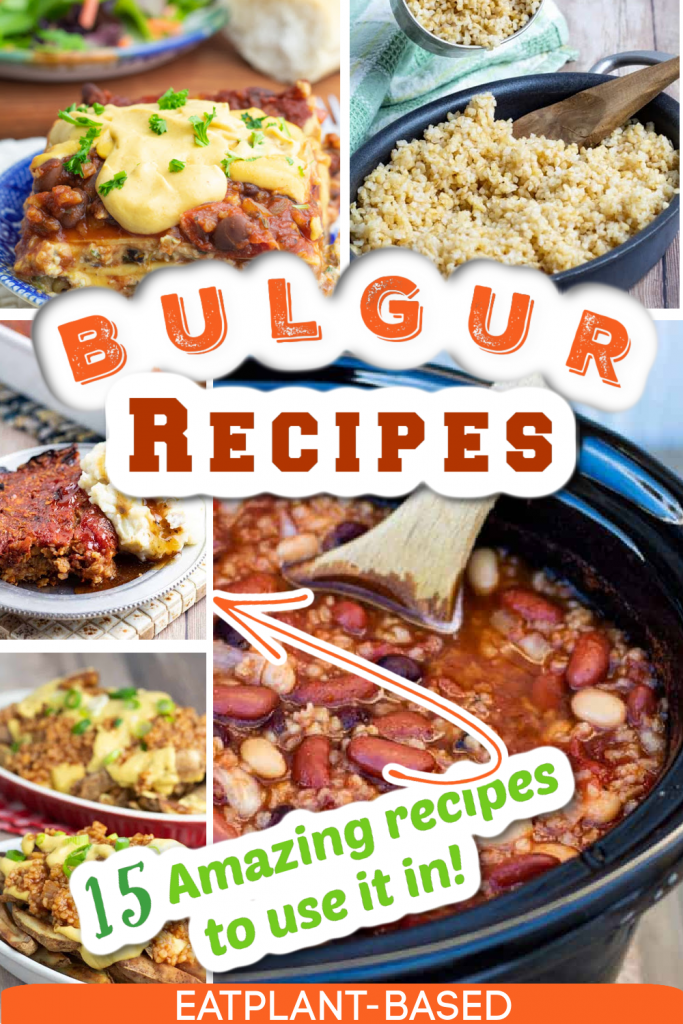 bulgur recipes photo collage for pinterest