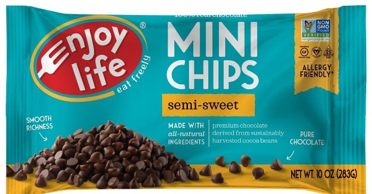 Enjoy Life Baking Chocolate, Soy free, Nut free, Gluten free, Dairy free, Non GMO, Vegan Chips