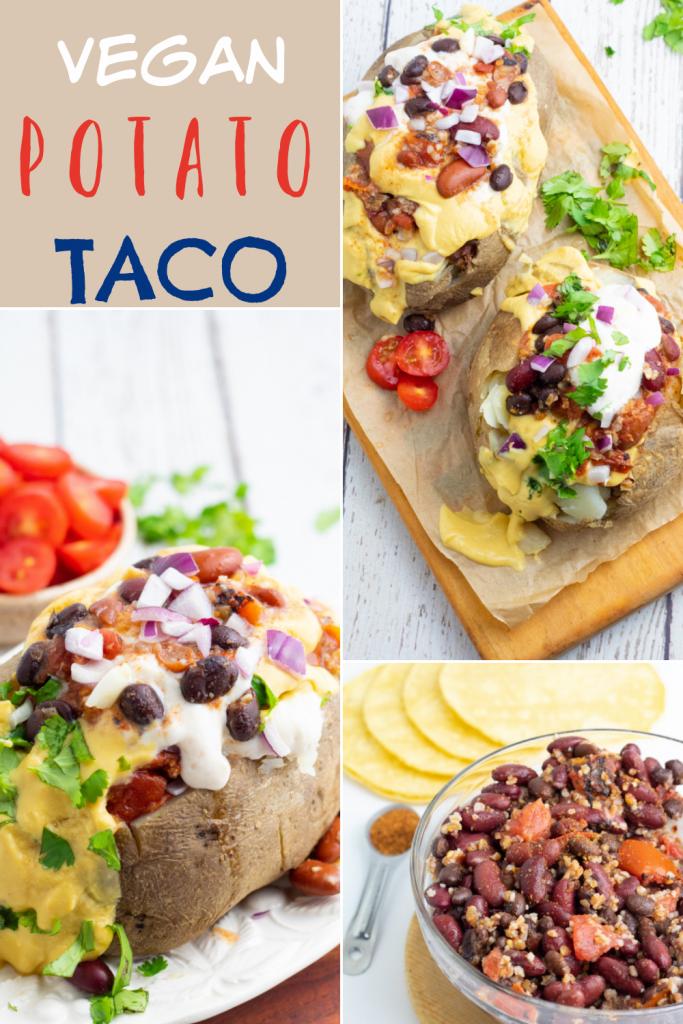 Potato Taco pinterest collage