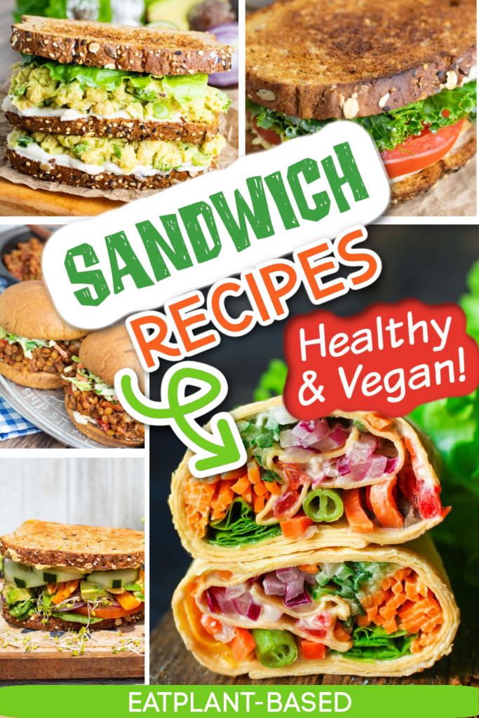 photo collage for sandwich recipes for pinterest