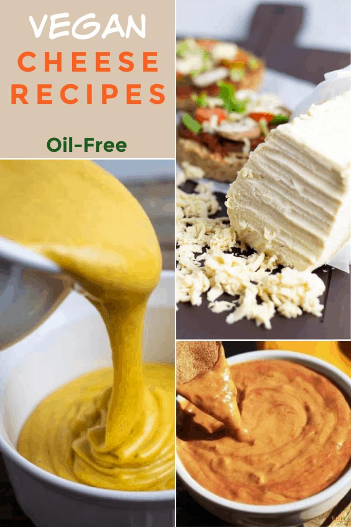 vegan cheese recipes photo collage