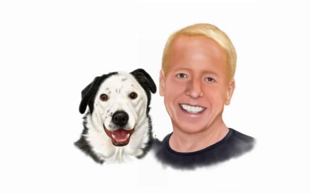 eric and peety the dog