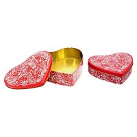 Valentine Red Tin For Gift Giving Boxes 2 Pack