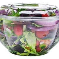 DOBI Salad to-Go Containers, 32oz, (50 Pack) - Clear Plastic Disposable Salad Bowls with Lids, Standard Size