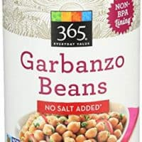 365 Everyday Value, Garbanzo Beans No Salt Added, 15.5 Ounce