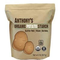Anthony's Organic Potato Starch - Unmodified (2 Pounds), Gluten-Free & Non-GMO, Resistant Starch