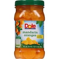 Dole Mandarin Oranges in 100% Fruit Juice, 23.5 Ounce Jar, All Natural Fruit, Mandarin Orange Segments Packed in Fruit Juice, Naturally Gluten-Free, Non-GMO, No Artificial Sweeteners