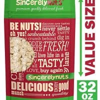 Sincerely Nuts - Raw Cashews Whole and Unsalted | Two lbs. Bag | Deluxe Kosher Snack Food | Healthy Source of Protein, Vitamin & Mineral Nutritional Content | Gourmet Quality Vegan Cashew Nut