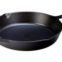Lodge Seasoned Cast Iron Skillet - 12 Inch Ergonomic Frying Pan