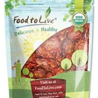 Food to Live Organic Sun-Dried Tomatoes (Salted, Non-GMO, Kosher, Unsulfured, Bulk) (1 Pound)