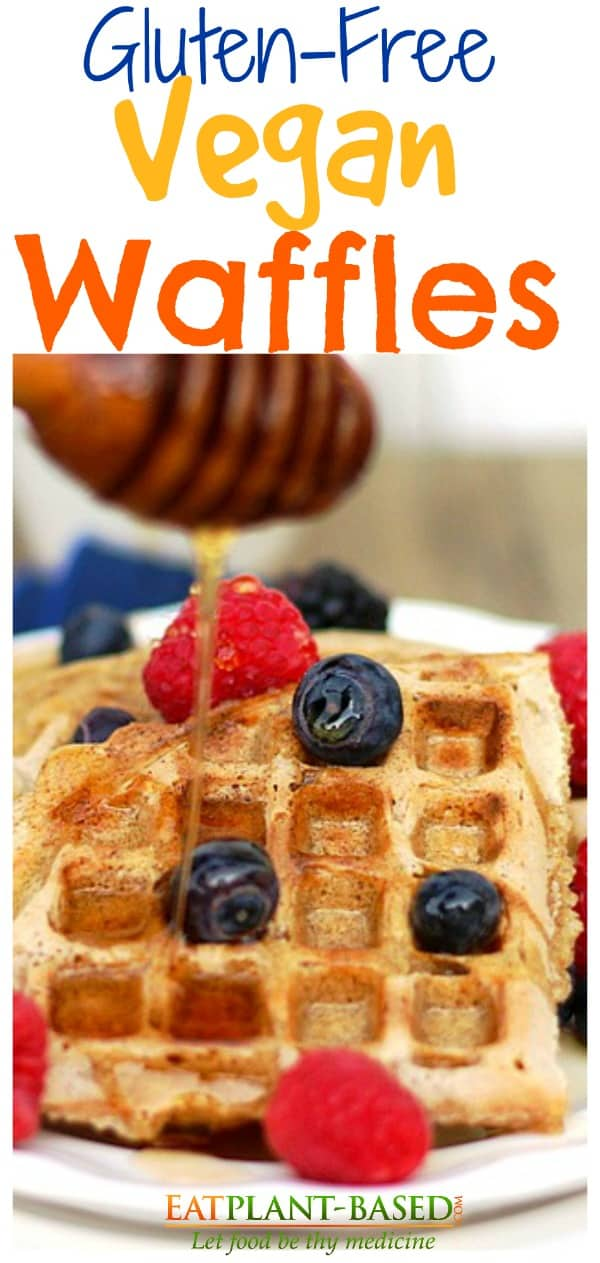 gluten free eggless waffles
